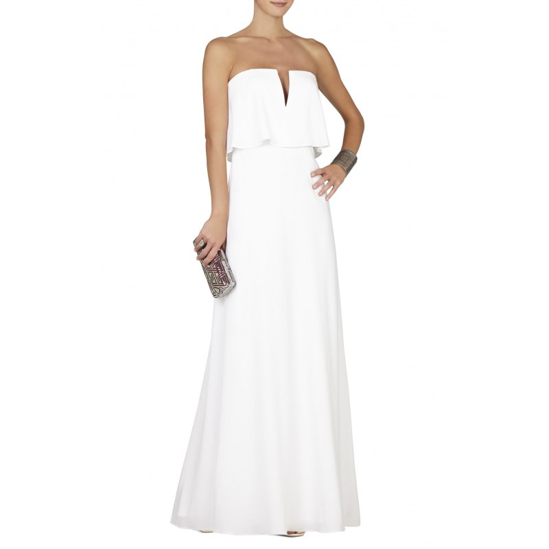 ALYSE STRAPLESS COLOR-BLOCKED GOWN